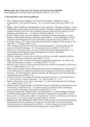 Bibliographie zum Archivwesen der Schweiz und Liechtensteins 2008