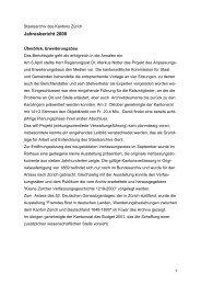 Jahresbericht 2000 - Staatsarchiv - Kanton Zürich