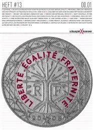 Heft #13 Liberté. Égalité. Fraternité - Schauspiel Hannover