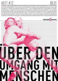 Heft #12 Über den Umgang mit Menschen - Schauspiel Hannover