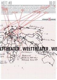 Heft #8 Welttheater - Schauspiel Hannover