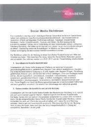 NÜRNBERG Social Media Richtlinien Kommunikation unterliegt ...