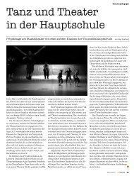 Tanz und Theater in der Hauptschule - Staatstheater Nürnberg