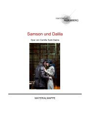 Samson und Dalila - Staatstheater Nürnberg