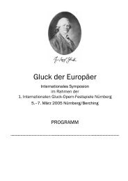 Gluck der Europäer - Staatstheater Nürnberg