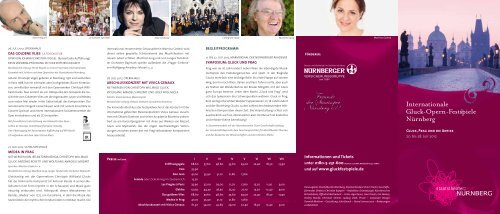 Informationen und Tickets und auf www.gluckfestspiele.de