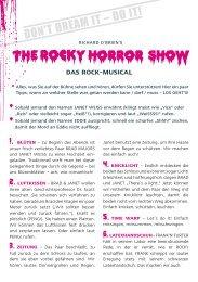 THE ROCKY HORROR SHOW - Die Gebrauchsanweisung