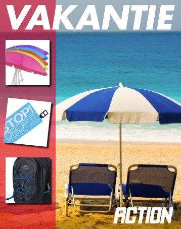 Action vakantie folder folder