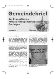 Liebe Gemeindeglieder - Evangelische Landeskirche in Württemberg