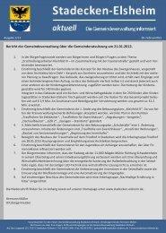 Nr. 2 - Februar 2013 - Gemeindeverwaltung Stadecken-Elsheim