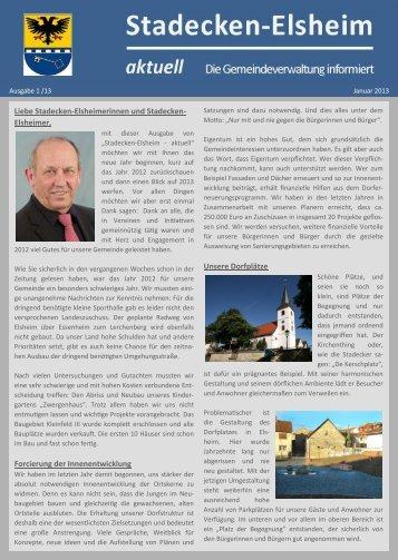 Nr. 1 - Januar 2013 - Gemeindeverwaltung Stadecken-Elsheim