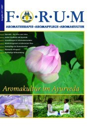 Aromakultur im Ayurveda - Forum Essenzia