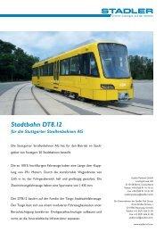 Stadtbahn DT8.12 für die Stuttgarter Straßenbahnen AG - Stadler