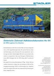 Elektrische Zahnrad-/Adhäsionslokomotive He 4/4 für MRS ... - Stadler