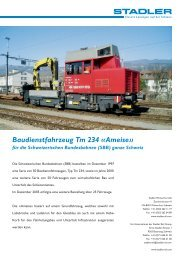 Baudienstfahrzeug Tm 234 «Ameise» - Stadler