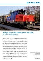 Zweifrequenz-Hybridlokomotive Butler für Güter- und ... - Stadler