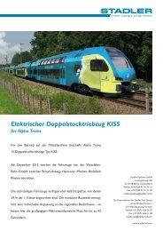 Elektrischer Doppelstocktriebzug KISS für Alpha Trains - Stadler