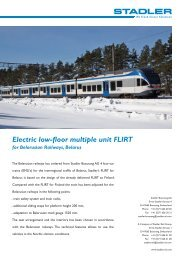 Electric low-floor multiple unit FLIRT - Stadler