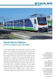 Diesel-Electric Railcars - Stadler