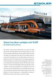 Diesel low-floor multiple unit FLIRT for Elektriraudtee, Estonia - Stadler