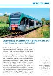 Automotrice articolata Diesel-elettrica GTW 4/12 a piano ... - Stadler