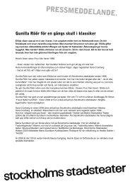 Gunilla Röör för en gångs skull i klassiker - Stockholms Stadsteater