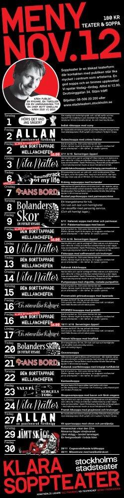 KLARA SOPPTEATER - Stockholms Stadsteater