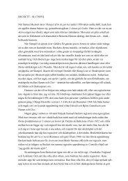 Magnus Hedlund om Beckett och Slutspel