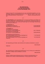 Haushaltssatzung 2012, Entwurf - Bad Salzuflen