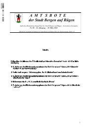 A  M  T   S  B  O  T  E der Stadt Bergen auf Rügen - in der Stadt ...