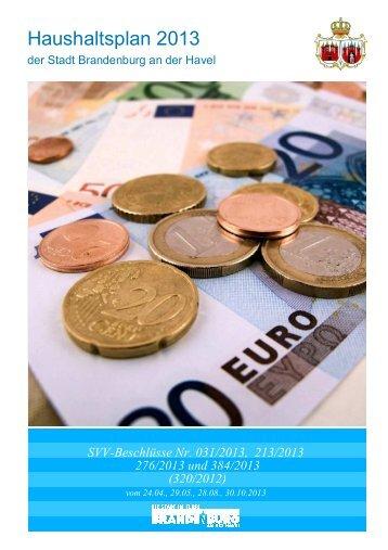 Vorbericht/Haushaltssatzung 2013 - Brandenburg an der Havel