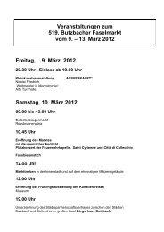 Butzbacher Faselmarkt vom 09 - Stadt Butzbach