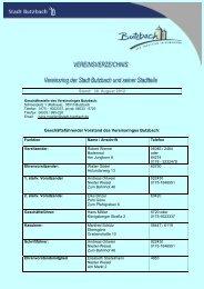 Stand: 30. August 2012 Geschäftsführender ... - Stadt Butzbach