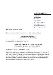 lesen Sie hier mehr! - Stadt Butzbach