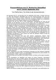 Pressemitteilung zum Butzbacher Altstadtfest - Stadt Butzbach