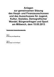 Anlagen zur gemeinsamen Sitzung des Haupt- und ... - Stadt Butzbach