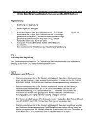 Protokoll über die 23. Sitzung der ... - Stadt Butzbach