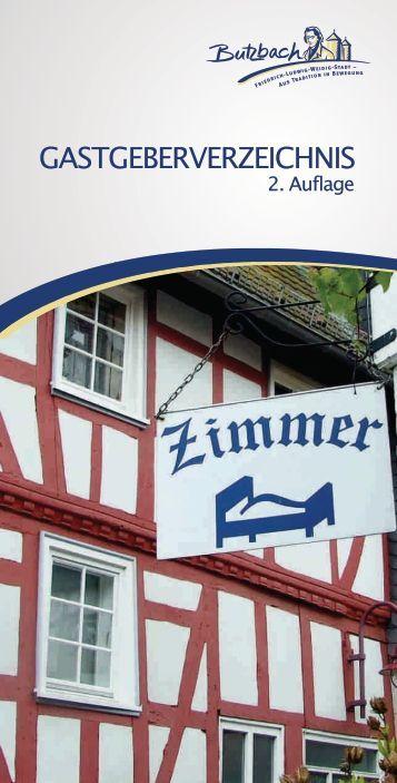 Druckdaten Gastgeberverzeichnis 2013 - Stadt Butzbach