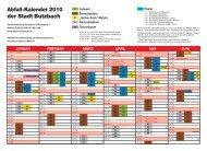 Abfall-Kalender 2010 der Stadt Butzbach