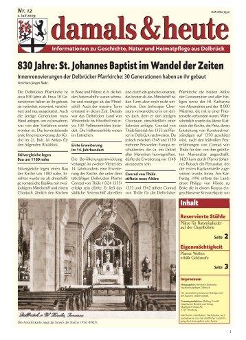 damals und heute - Delbrück