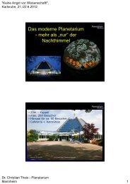 Das moderne Planetarium - Stadt der jungen Forscher