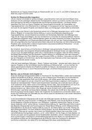 Nachbericht zur Tagung »Keine Angst vor Wissenschaft! - Stadt der ...