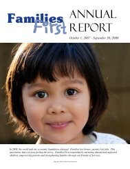 ANNUAL REPORT - Families First