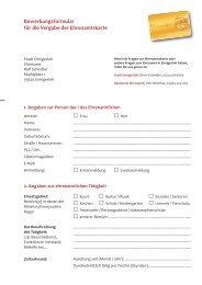 Bewerbungsformular - Ehrenamtskarte Nordrhein-Westfalen
