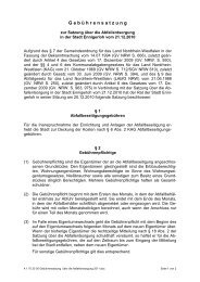 Gebührensatzung über die Abfallentsorgung 2011 - Stadt Ennigerloh