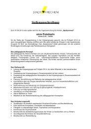 Stellenausschreibung Spatzennest GL Krippengruppe - Stadt Frechen