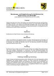 421 Benutzungs- und Entgeltordnung Bücherei - Stadt Frechen