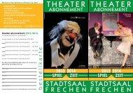 Theater-Abo-Heft zum Herunterladen - Stadt Frechen