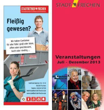 Veranstaltungskalender II. Halbjahr 2013 (pdf ... - Stadt Frechen