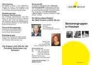 Seniorengruppen in Frechen - Stadt Frechen